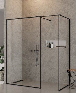 NEW TRENDY KABINA WALK IN NEW MODUS BLACK 120X120