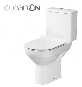 Cersanit WC KOMPAKT CITY NEW CLEANON 011 3/5 Z DESKĄ CITY SLIM DUROPLASTOWĄ